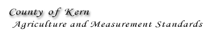 Kern County Department of Agriculture and Measurement Standards